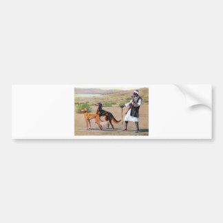 saluki etiqueta de parachoque