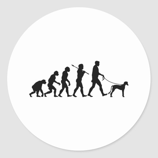 Saluki Classic Round Sticker