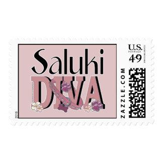 Saluki DIVA Postage Stamps