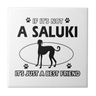 Saluki dog breed designs tile