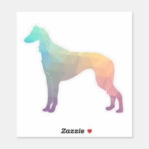 Saluki Dog Geometric Pattern Silhouette Sticker
