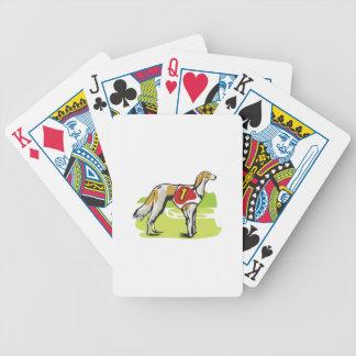 SALUKI DOG BICYCLE PLAYING CARDS