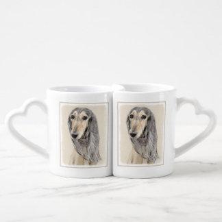 Saluki (Fawn) Coffee Mug Set