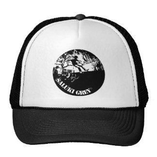 saluki grey new logo. trucker hat