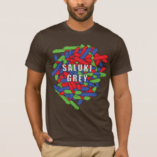 Saluki grey skatebaords overlapping T-Shirt