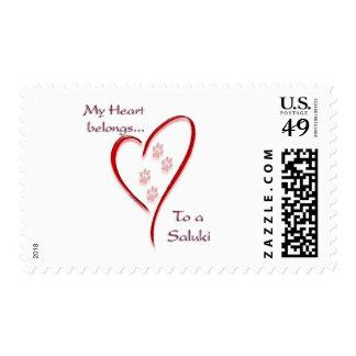 Saluki Heart Belongs Postage