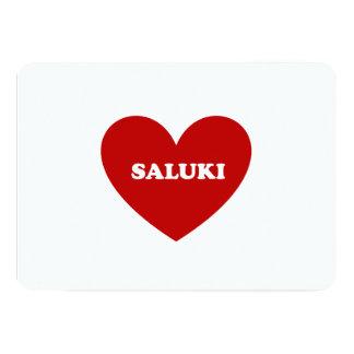 """Saluki Invitación 5"""" X 7"""""""