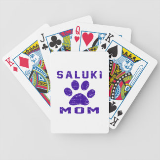 Saluki Mom Gifts Designs Bicycle Playing Cards