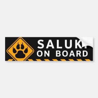 Saluki On Board Bumper Sticker