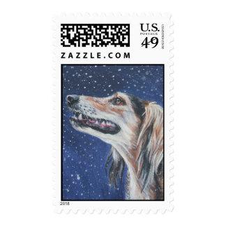 saluki postage stamp