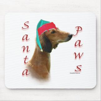 Saluki Santa Paws Mouse Pad