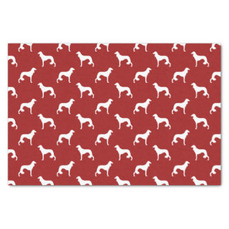 Saluki Silhouettes Pattern Red Tissue Paper