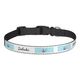 Saluki (Silver) Painting - Cute Original Dog Art Pet Collar