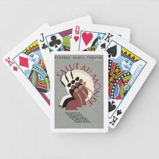 Salut Au Monde Bicycle Playing Cards
