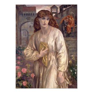 Salutation of Beatrice by Dante Gabriel Rossetti 5.5x7.5 Paper Invitation Card