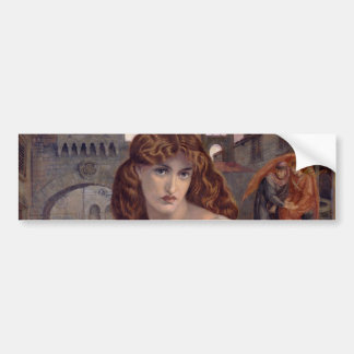 Salutation of Beatrice by Dante Gabriel Rossetti Bumper Sticker