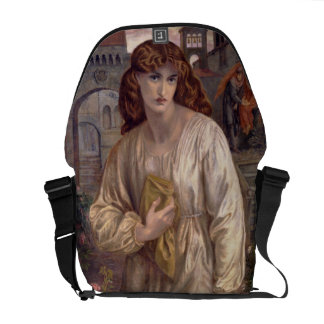 Salutation of Beatrice by Dante Gabriel Rossetti Courier Bag