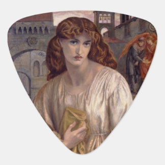 Salutation of Beatrice by Dante Gabriel Rossetti Guitar Pick