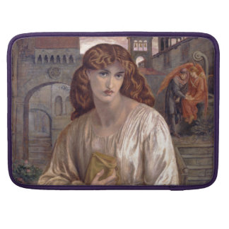 Salutation of Beatrice by Dante Gabriel Rossetti MacBook Pro Sleeve
