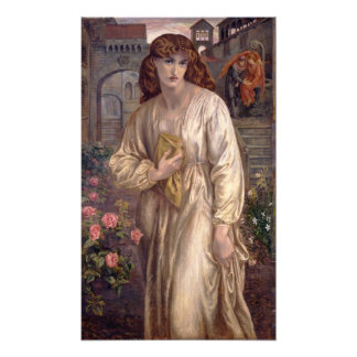 Salutation of Beatrice by Dante Gabriel Rossetti Photo Print