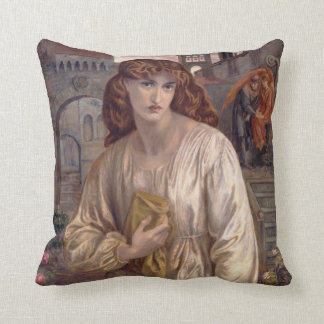 Salutation of Beatrice by Dante Gabriel Rossetti Throw Pillow