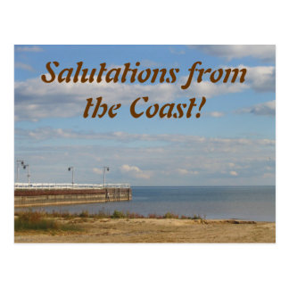 Salutations from the Coast! Postcard