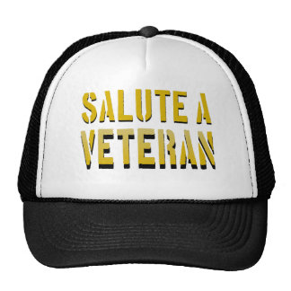 Salute a Veteran Trucker Hat