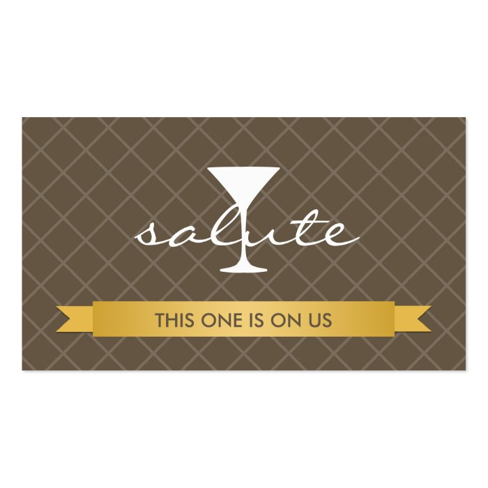 Salute alcoholic drink ticket party event voucher business card