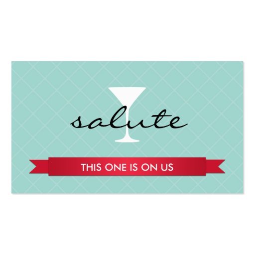 Salute alcoholic drink ticket party event voucher Double-Sided standard business cards (Pack of 100)