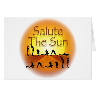 Salute the Sun Greeting Cards