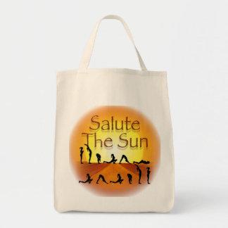 Salute The Sun Tote Bag