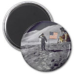salute to flag 2 inch round magnet