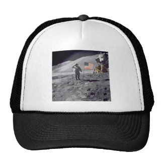 salute to flag trucker hat