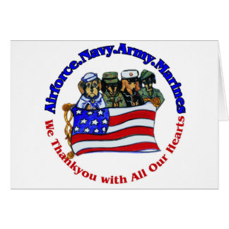 Salute to Troops Card