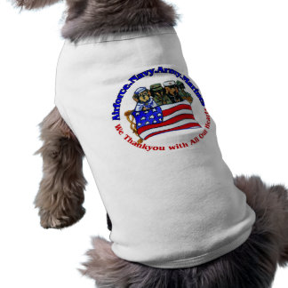 Salute to Troops Pet Tshirt