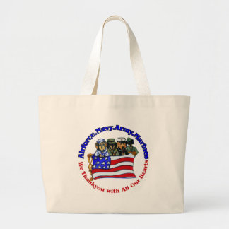 Salute to Troops Large Tote Bag