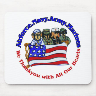 Salute to Troops Mouse Pad