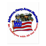 Salute to Troops Postcard