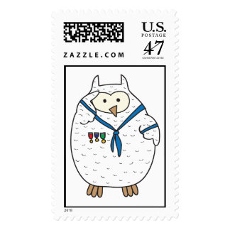 Saluter Hooter Postage Stamp