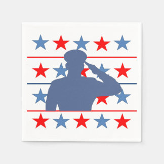 Saluting Our Stars Veterans Day Party Paper Napkin