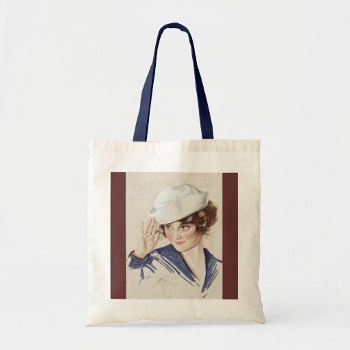 Saluting Pinup Sailor Tote Bag