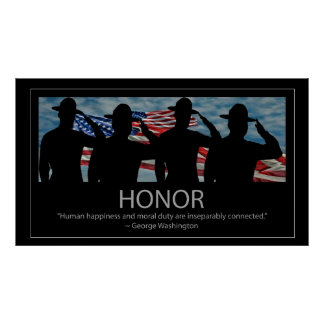 Saluting Sergeants and Honor quote Poster