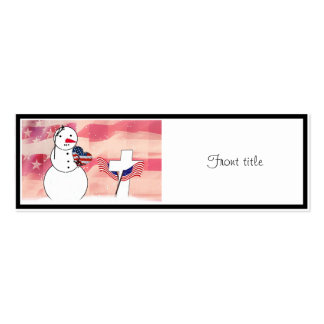 Saluting Snowman for Memorial Day Business Cards