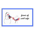 Saluting Snowman With American Flag Heart Business Card Templates