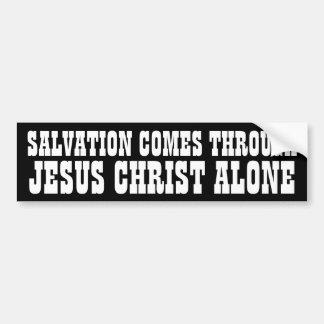 Salvación a través de Jesús Pegatina Para Auto