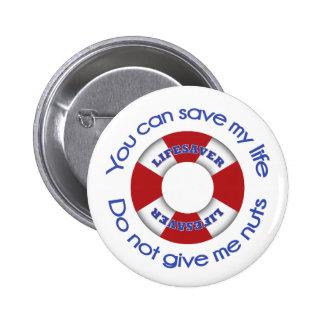 Salvación - botón de la alergia de la nuez