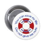 Salvación - botón de la alergia de la nuez pins