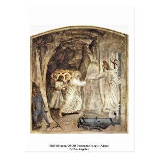 Salvación del infierno de la gente del viejo testa tarjeta postal
