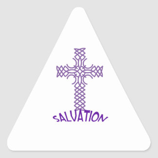 SALVACIÓN PEGATINA TRIANGULAR