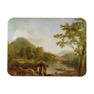 Salvado del Dinas de Llangollen, 1770-71 (aceite e Imán De Vinilo